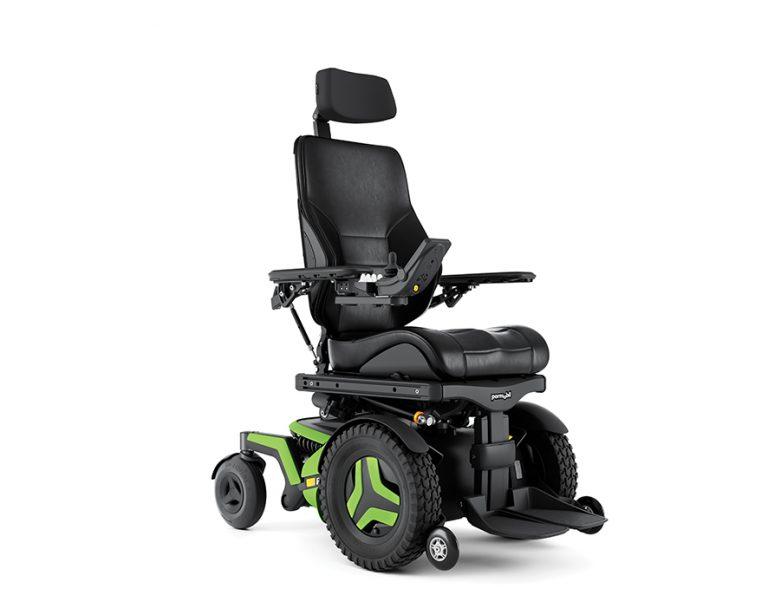F3 Corpus indoor/outdoor powerchair in green