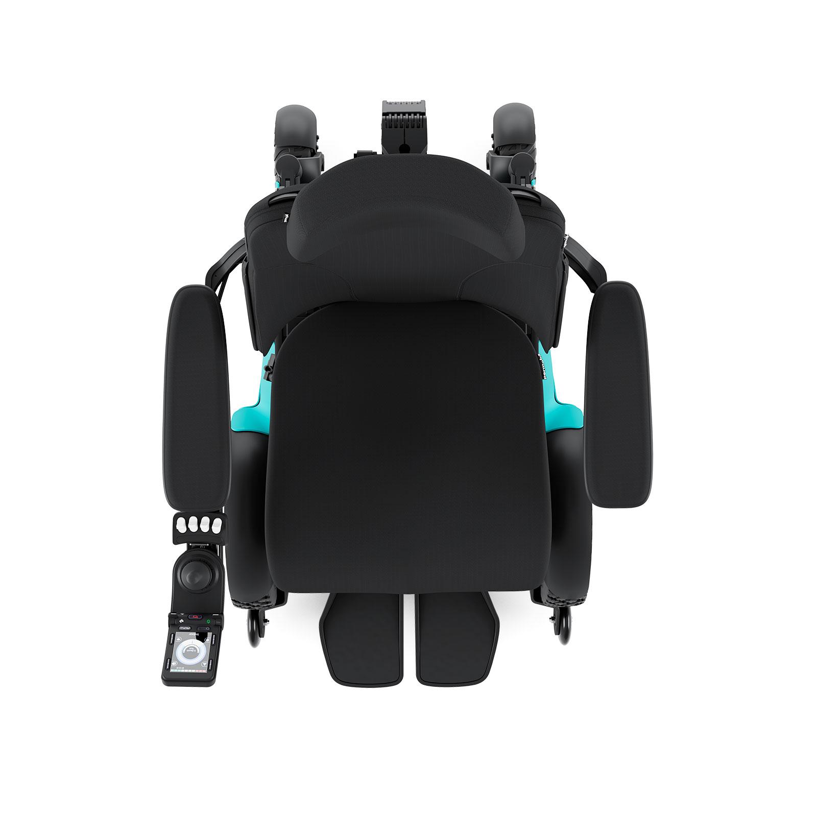 f5 corpus outdoor/indoor powerchair in aqua blue