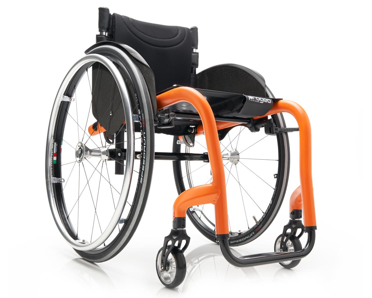 Joker r2 rigid active wheelchair in orange