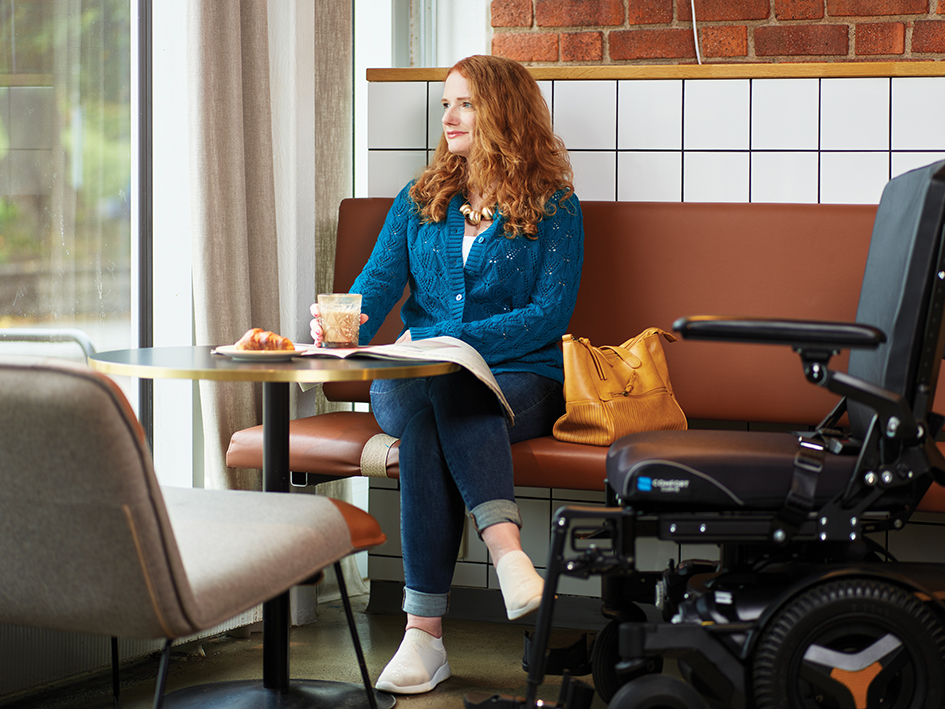 M1 indoor powerchair clinical mobility solutions coffee shop image