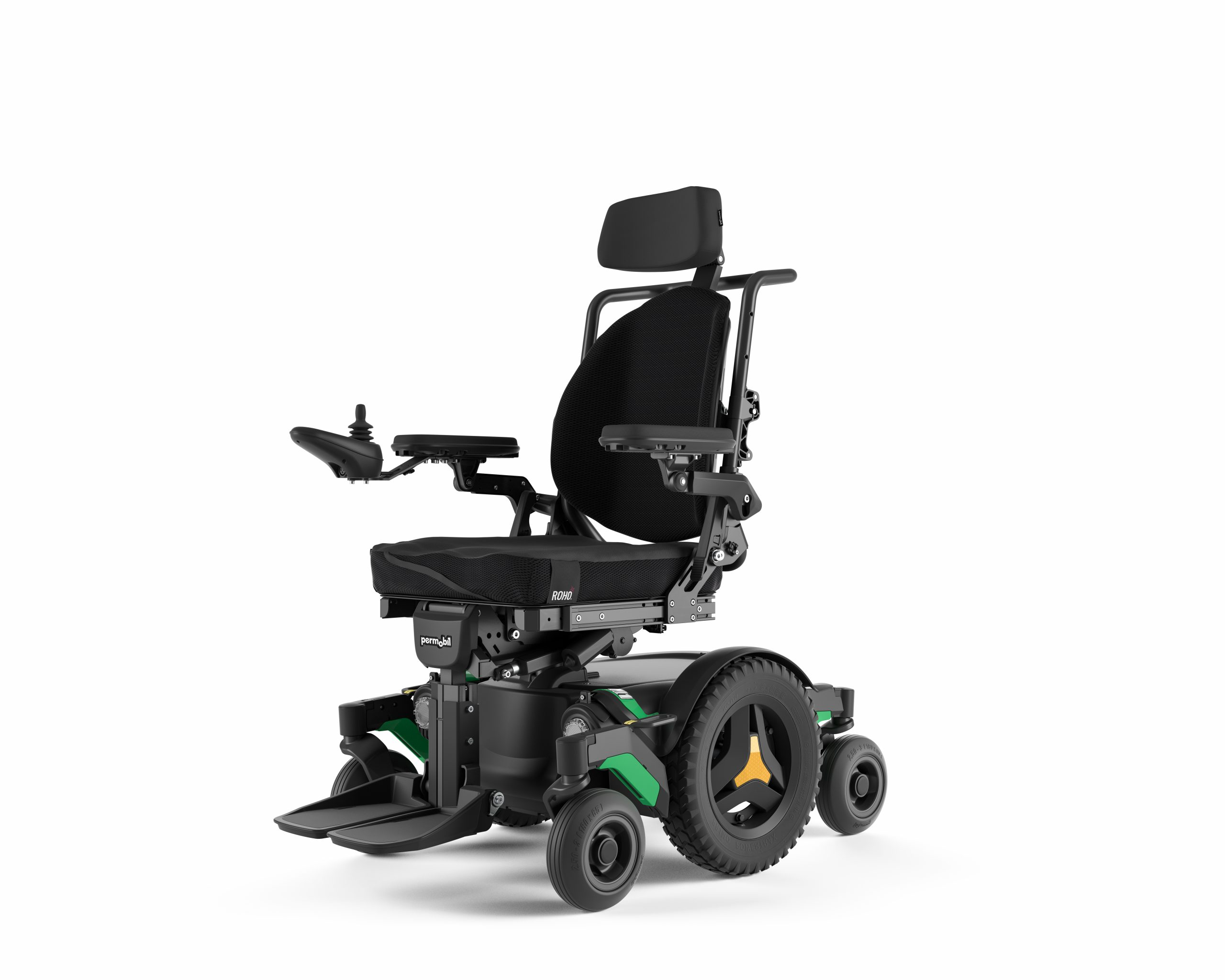 m1 indoor powerchairs from permobil angle view