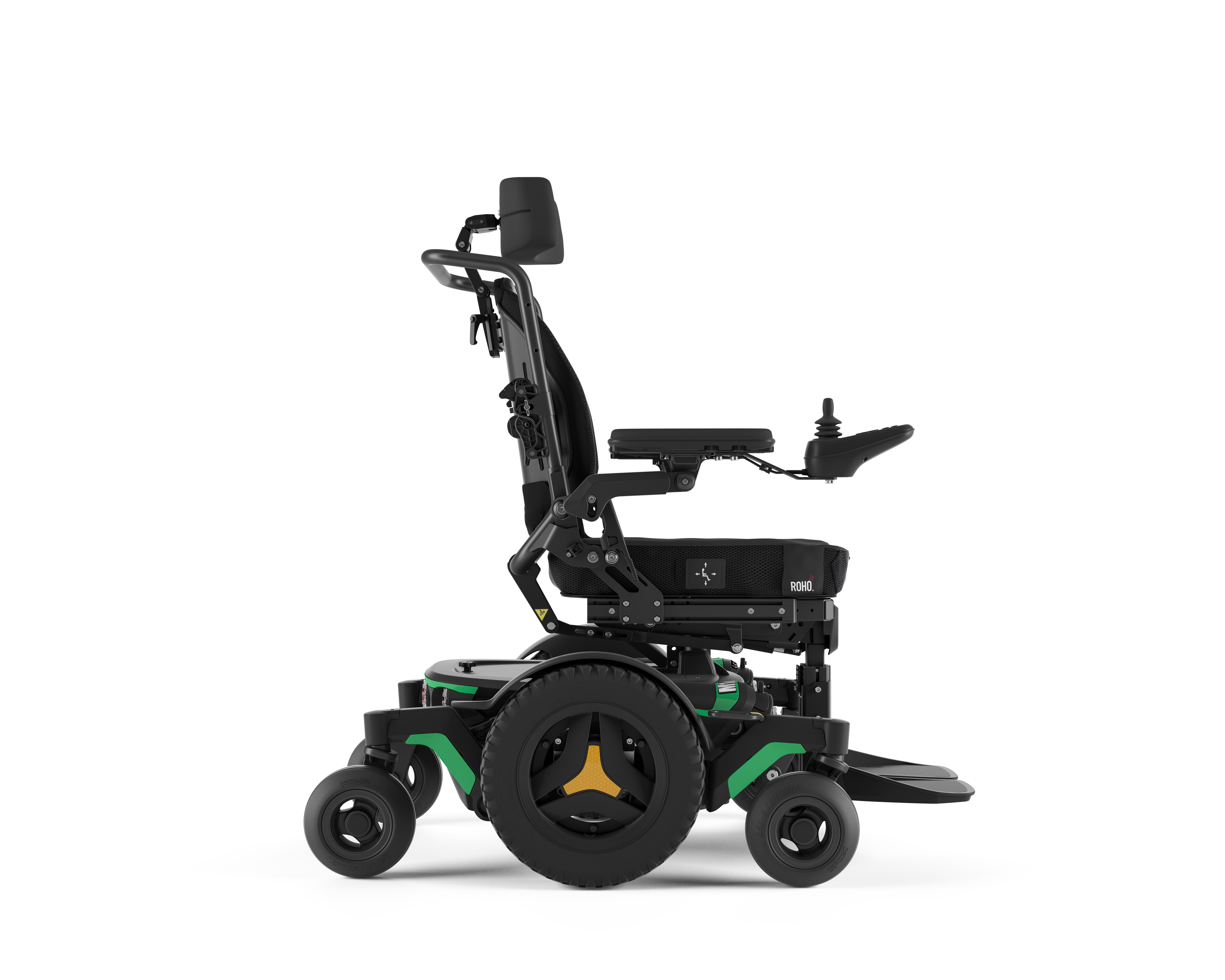 Permobil M1 in Green indoor powerchair