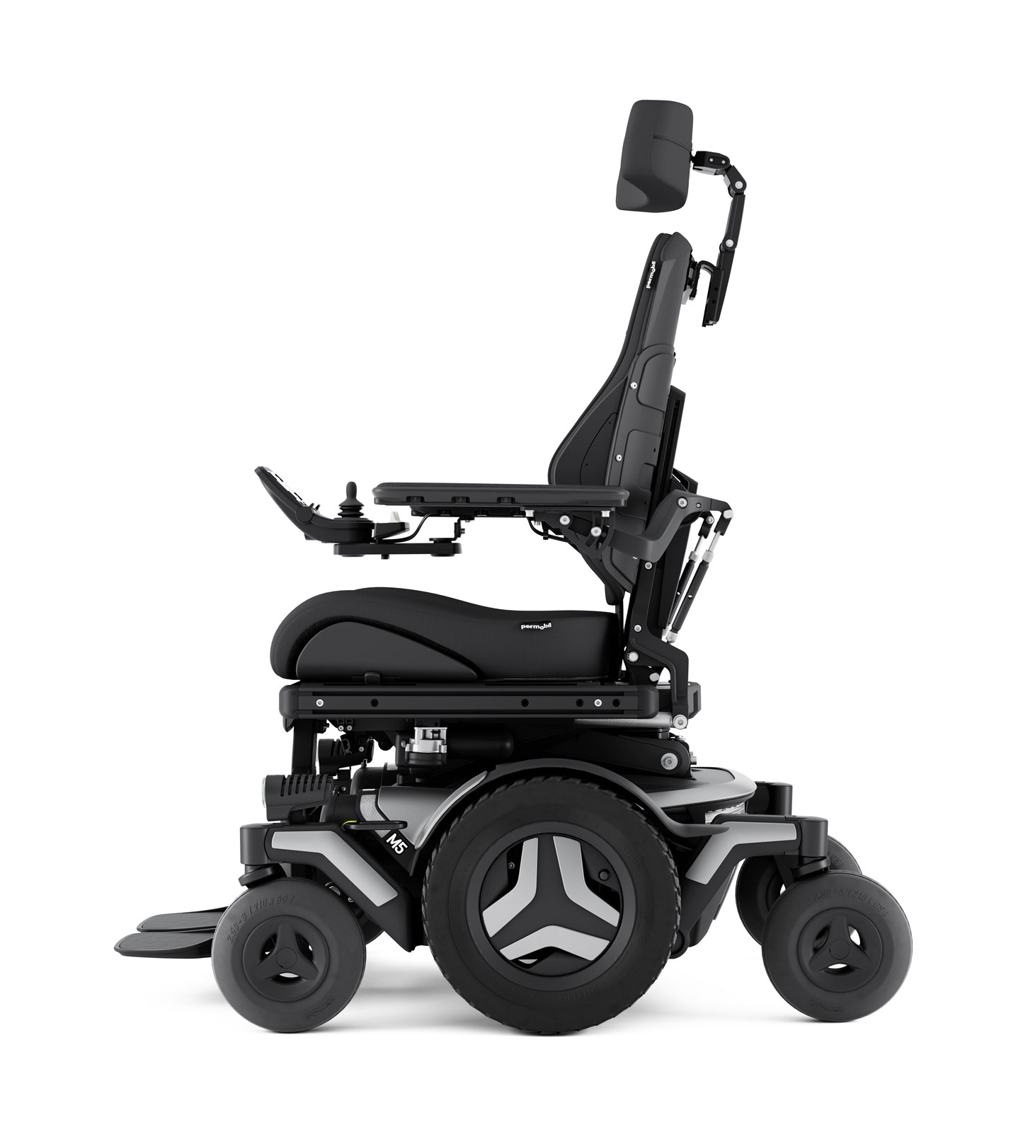 m5 corpus outdoor/indoor powerchair side view