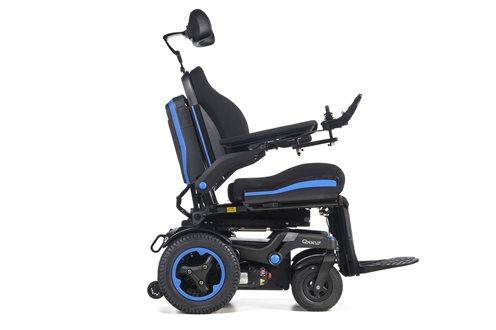 q700r drive base outdoor/indoor powerchair in blue