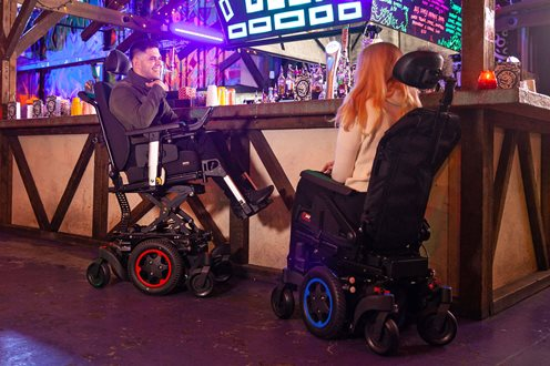 q300m mini social situation indoor powerchairs