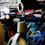 Quickie Q300M Mini indoor powerchairs with lights