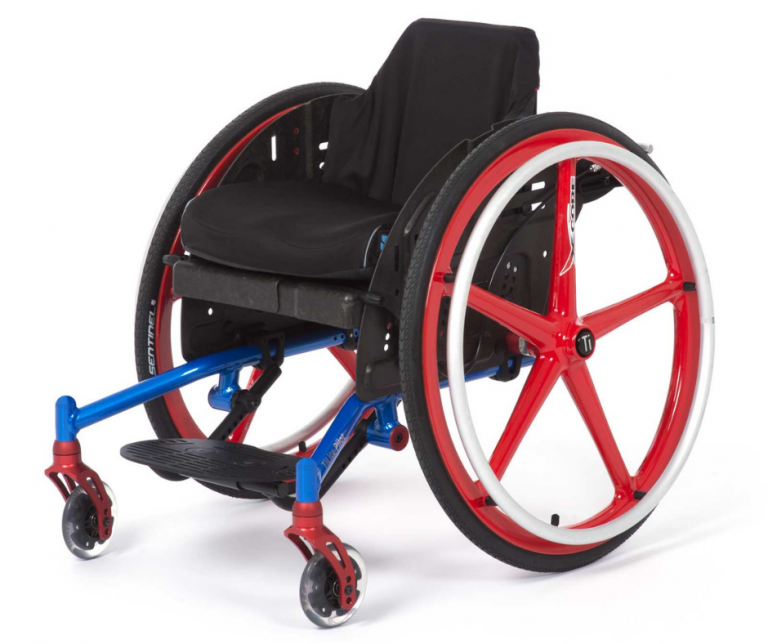 TiLite Pilot paediatric wheelchair with X-Core wheels