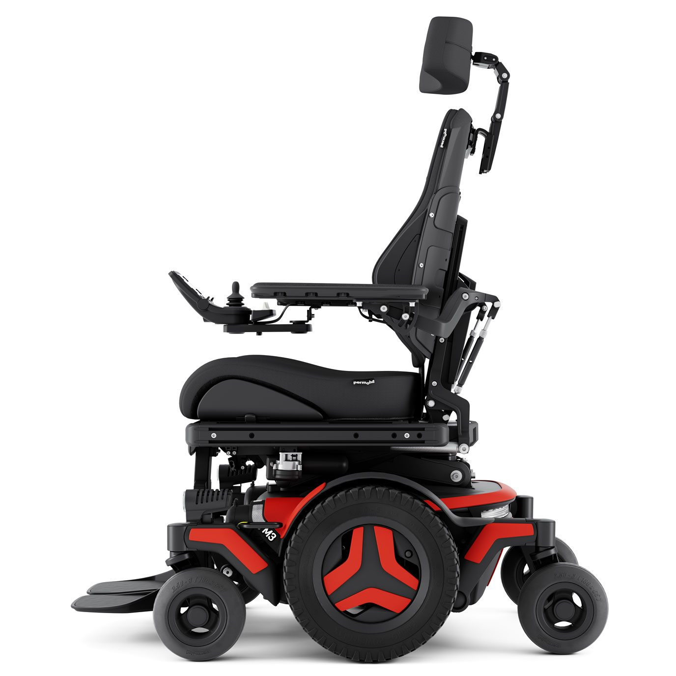 M3 Corpus drive base indoor/outdoor powerchair side view