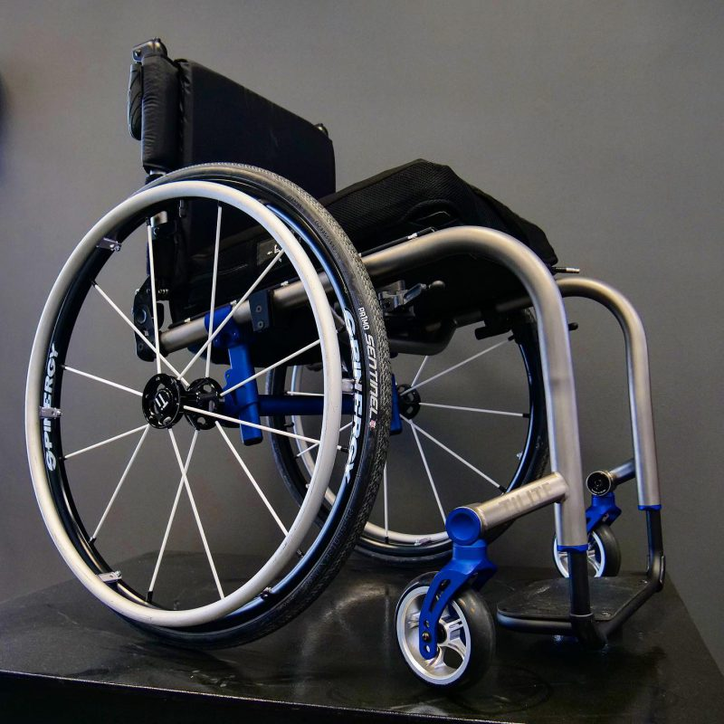 tilite zra active wheelchair with blue accents