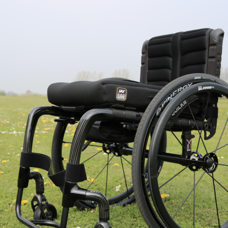 Krypton R active wheelchair with a JAY lite cushion on the grass